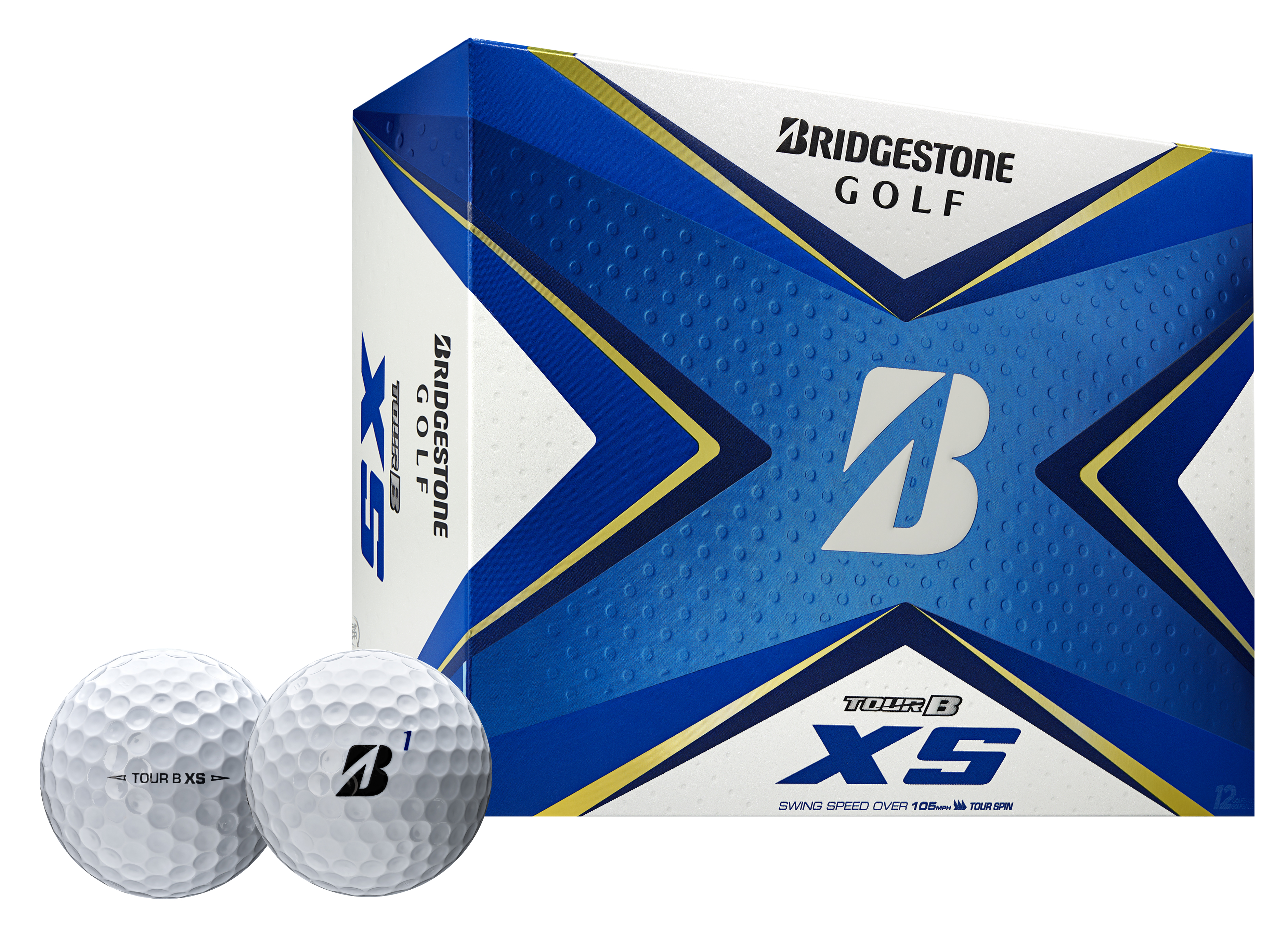 Box of Bridgestone Tour B XS Golf Balls