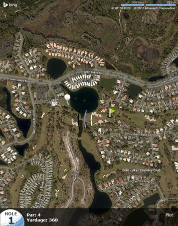 glen lakes florida map