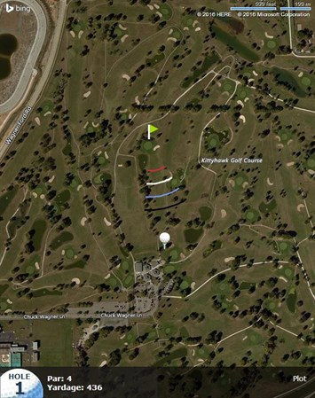 Kittyhawk Golf Center Eagle Golf Course - Map of us showing dayton and kitty hawk